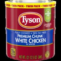 Tyson® Premium Chunk White Chicken - 2 ct / 12.5 oz