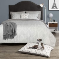 Dog Whisperer 03681049700200 King Size Chevron Comforter Set & Pet Bed, Multi Color