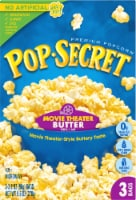 Pop Secret Movie Theater Butter Popcorn Bags