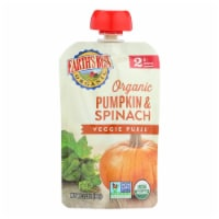 Earth's Best Organic Pumpkin and Spinach Baby Food Puree - Stage 2 - Case of 12 - 3.5 oz. - 12