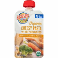 Earth's Best Organic Cheesy Pasta with Veggies Homestyle Meal Puree Stage 3 Baby Food
