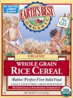 Earth's Best Organic Whole Grain Rice Cereal Baby Food