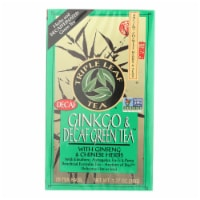 Triple Leaf Tea Ginkgo and Green Tea Decaffeinated - 20 Tea Bags - Case of 6
