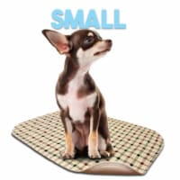 Lennypads 1322LPT 13 x 22 in. Small Washable Pet Pad - Tan Plaid - 1