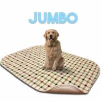 Lennypads 4848LPT 48 x 48 in. Jumbo Washable Pet Pad - Tan Plaid - 1