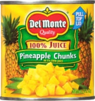 Del Monte Pineapple Chunks in 100% Juice