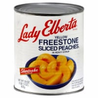 Lady Elberta Yellow Freestone Sliced Peaches