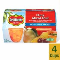 Del Monte Cherry Mixed Fruit Cups - 4 ct / 4 oz