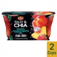 Del Monte Fruit & Chia Peach in Strawberry Dragon Fruit Cups 2 Count