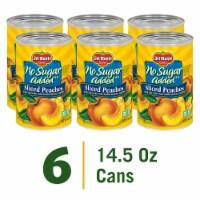 Del Monte® No Sugar Added Sliced Yellow Cling Peaches - 6 ct / 14.5 oz