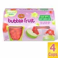 Del Monte Bubble Fruit Sour Apple Watermelon Apples & Popping Boba with Sweetened Juice Fruit Cups - 4 ct / 3.5 oz