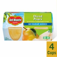 Del Monte No Sugar Added Diced Pears in Water Fruit Cups