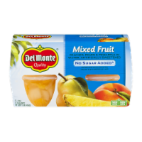 Del Monte No Sugar Added Mixed Fruit Cups 4 Count