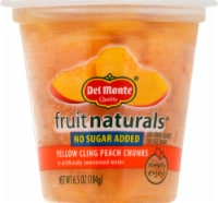 Del Monte Fruit Naturals No Sugar Added Yellow Cling Peach Chunks Fruit Cup