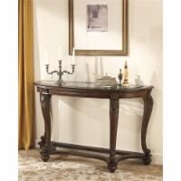 Ashley Furniture Norcastle Console Table in Dark Brown - 1