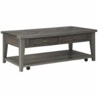 Ashley Furniture Branbury Mobile Storage Coffee Table in Grayish Brown - 1