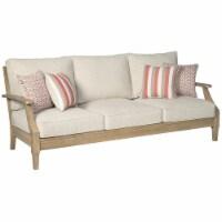 Ashley Furniture Clare View Patio Sofa in Beige - 1