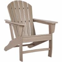 Ashley Furniture Sundown Treasure Adirondack Chair in Grayish Brown