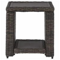 Signature Design by Ashley Grasson Lane Square Patio End Table in Brown - 1