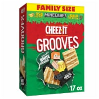 Cheez-It Grooves Sharp White Cheddar Crunchy Snack Crackers Family Size
