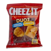 Sunshine Cheez It Duoz Caramel Popcorn and Cheddar Cracker, 4 Ounce -- 6 per case. - 6-4 OUNCE