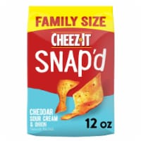 Cheez-It Snap'd Cheddar Sour Cream and Onion Crackers Family Size - 12 oz