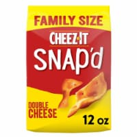 Cheez-It Snap'd Cheesy Baked Snacks Double Cheese Family Size - 12 oz