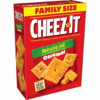 Cheez-It Baked Snack Cheese Crackers Reduced Fat Original Family Size