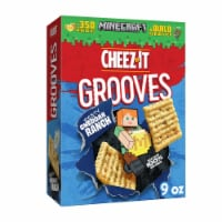 Cheez-It Grooves Crunchy Cheese Snack Crackers Zesty Cheddar Ranch