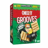 Cheez-It Grooves Crunchy Cheese Snack Crackers Sharp White Cheddar