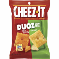 Cheez It Duoz Cheddar Jack and Baby Swiss Cracker, 4.3 Ounce -- 6 per case. - 6-4.3 OUNCE