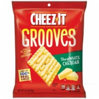 Cheez It Grooves Sharp White Cheddar Crispy Cracker, 3.25 Ounce -- 6 per case. - 6-3.25 OUNCE