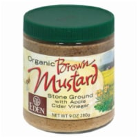 Eden Foods Organic Brown Stone Ground Mustard with Apple Cider Vinegar