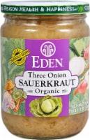 Eden Three Onion Sauerkraut - 18 oz