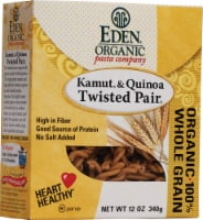 Eden Foods  Organic Pasta Company Kamut and Quinoa Twisted Pair