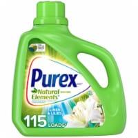 Purex Dirt Lift Action Natural Elements Linen & Lilies Liquid Laundry Detergent