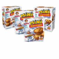 Choc Chip Mini Muffins, 4 Boxes, 20 Travel Pouches of Bite Size Muffins Baked - 20