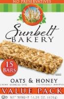 Sunbelt Bakery Oats & Honey Chewy Granola Bars Value Pack - 15 ct / 1.05 oz