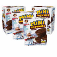 Little Debbie Mini Brownies, 4 Boxes, 20 Travel Pouches of Bite Size Chocolate Brownies - 20