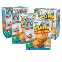 Little Debbie Birthday Cake Mini Muffins, 4 Boxes, 20 Travel Pouches of Bite Size Muffins - 20