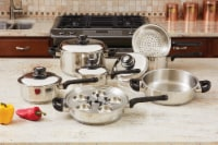Stainless Steel Cookware Set, 17 Pieces