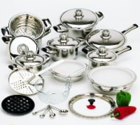 28 Piece 12-Element High-Quality Heavy-Gauge Stainless Steel Cookware Set