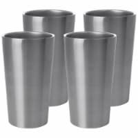 Maxam Stainless-Steel 4-piece Double Wall 13 oz. Tumbler Set