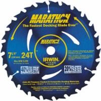 Irwin Marathon® Decking Circular Saw Blade - Blue - 7.25 in
