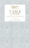 Caspari  Paper TC Moire Table Cover Platinum