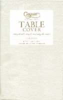 Caspari Paper Moire Table Cover - Ivory