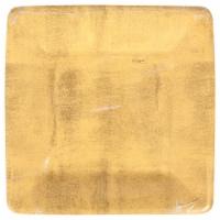 Caspari Paper Salad & Dessert Plate - Gold Leaf