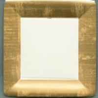 Caspari Paper Dinner Plate - Gold Leaf Ivory