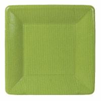 Caspari  Paper Grosgrain Border Salad - Dessert Plate Moss Green