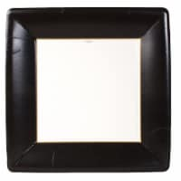 Caspari Paper Grosgrain Border Dinner Plate - Black
